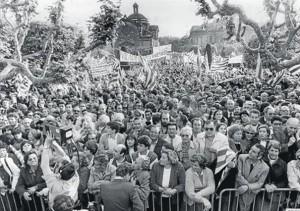 Manifestació a favor de Jordi Pujol, el 30 de març de 1984