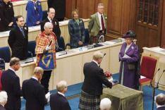 Sessió de reinstauració del Parlament escocès, 1999.