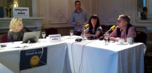 Mònica Terribas, Montserrat Guibernau i Agustí Colomines a l'Hotel Crowe Plaza d'Edimburg