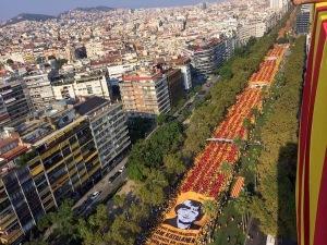 Via Catalana 2014 - 11 setembre - Gran Via de les Corts Catalanes