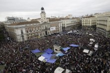 Campamento del 15-M en Madrid