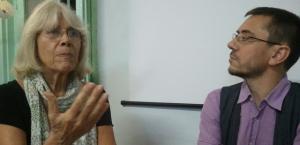 Martha Hanecker y Juan Carlos Monedero, de Podemos
