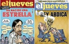 Cambio de portada: Pablo Iglesias por la viñeta sobre la abdicación, 2014.