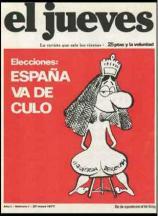 """El primer número de """"El Jueves"""", de 1977, ya fue censurado."""