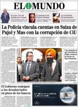 """""""El Mundo"""" irrumpió en la campaña electoral de noviembre de 2012 con está portada."""