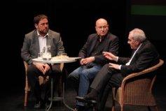 Oriol Junqueras, Joan Manuel Tresserras y Ernest Maragall