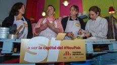 Gemma Sendra en plena faena de pasteleo con Alfred Bosch