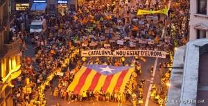 Capçalera manifestació 2012. @Jordi Borràs