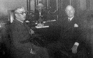 El general Batet y Alejandro Lerroux