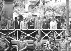 Diada de 1936. Tribuna de autoridades, con el alcalde Carles Pi i Sunyer, el presidente Lluís Companys y el consejero Ventura Gassol, entre otros.
